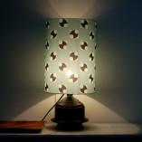 Lampe Molécules allumée - par l'atelier Volapük - pièce unique