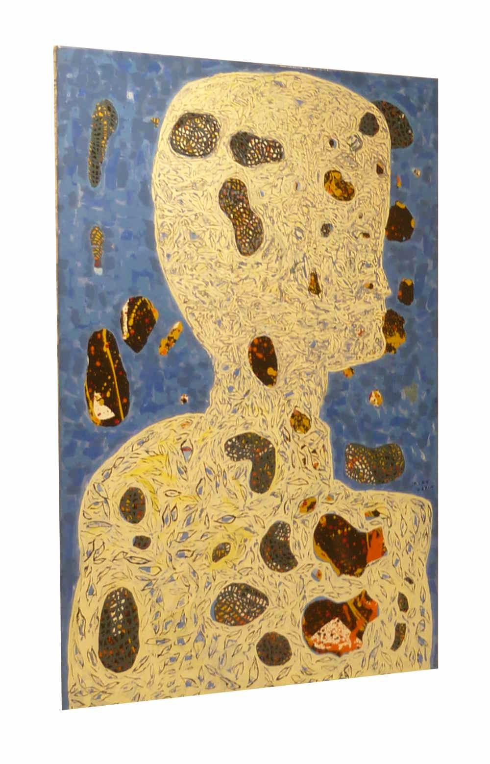 """Kiro Urdin (né en 1945) Artiste Macédonien - """"La Matiere Grise"""""""