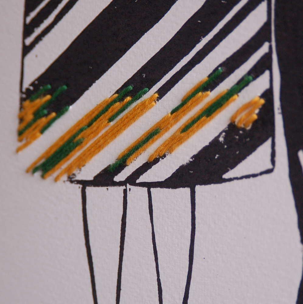 Une jupe raccommodée  par l'atelier Volapük