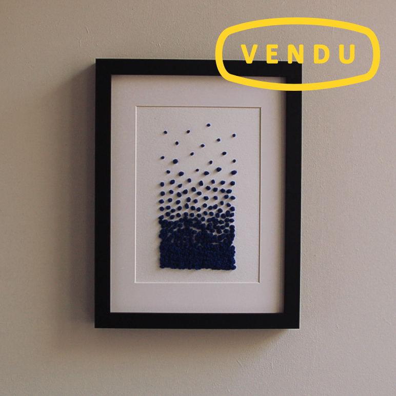 """Broderie contemporaine de l'atelier VOLAPÜK - """"Nouée"""""""