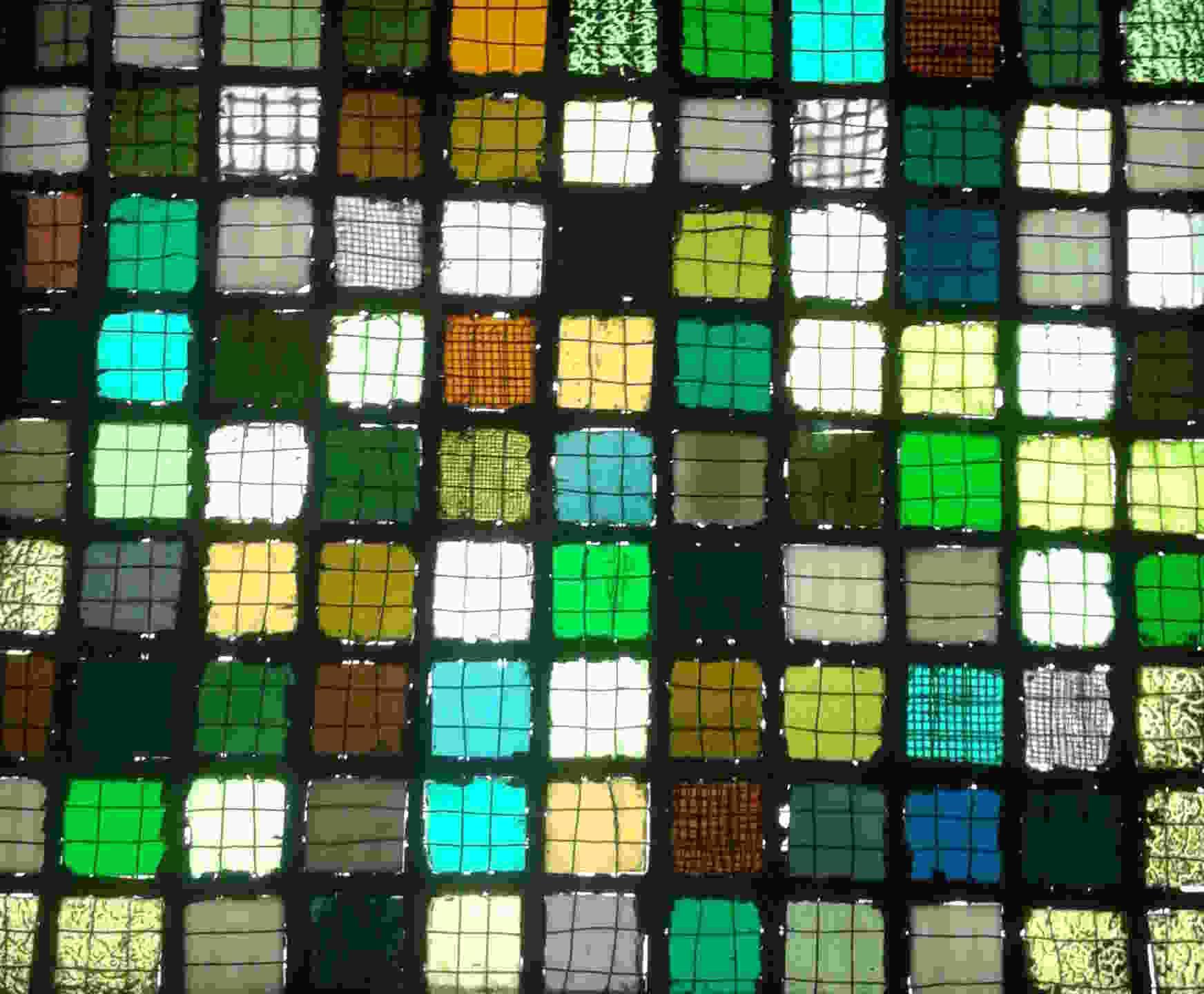 Josef Albers - 1921 Quadrillage en tessons de verre